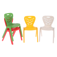 Dollhouse Miniature Chair Kids 1:12 Stool Plastic for Decals Gift 1pcs/2pcs