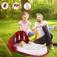 Portable Bionic Baby Crib Baby Safety Isolation Bed Multi function Baby Outdoor Folding Bed Travel Cradle Foldable Crib