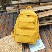 Waterproof Backpack Mochilas School-Bags Teenage Nylon Women Multi-Pocket Female