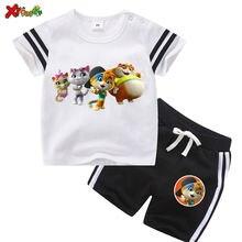 Комплекты детской одежды летняя одежда для мальчиков мультяшная