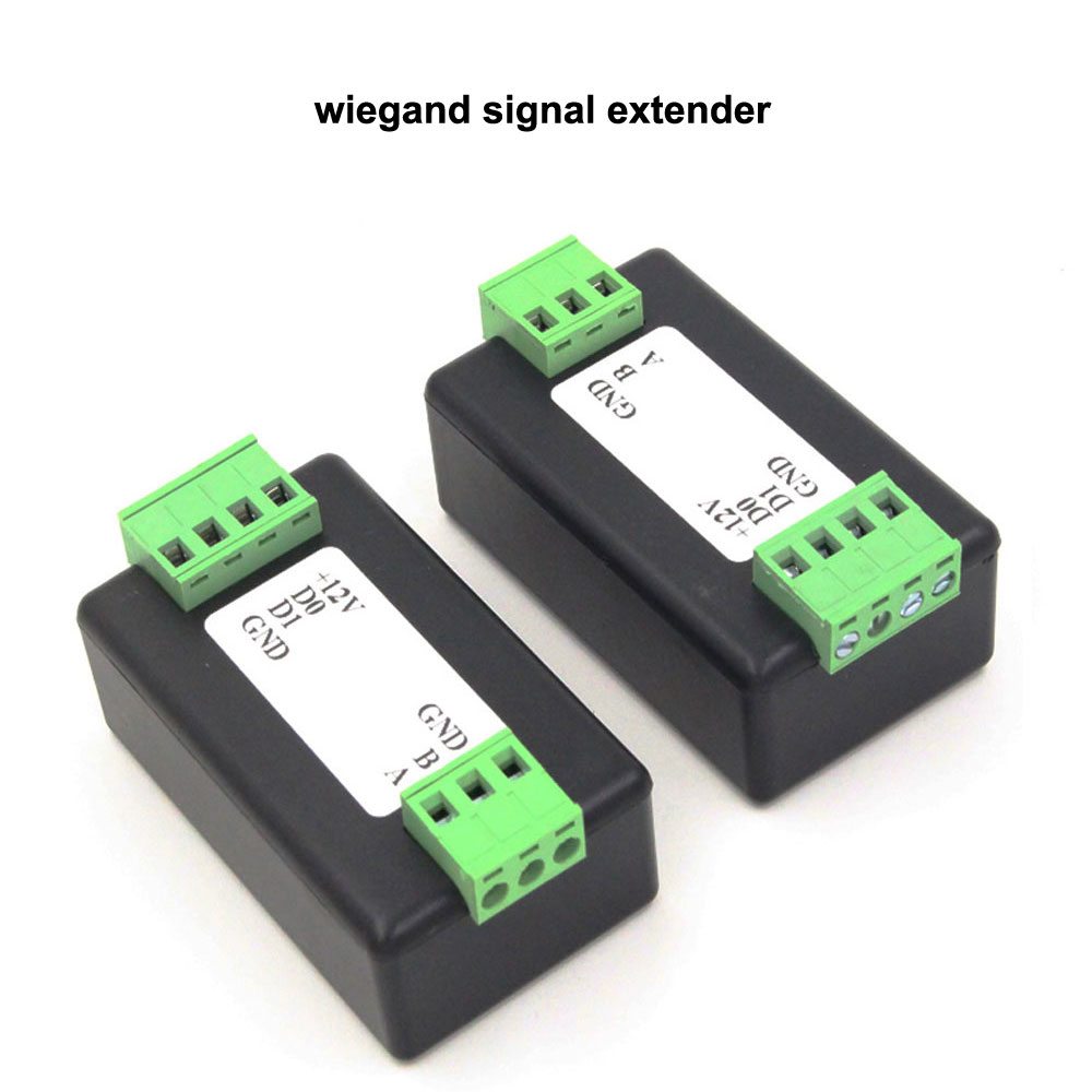 1pair Wiegand Signal Extender / Wiegand Format To RS485 Converter, Automatically Recognizes All WG Formats Extend Up To 50M