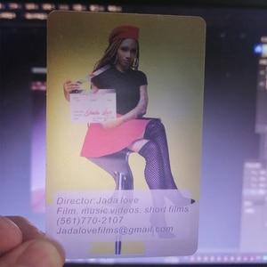 Image 4 - Angepasst Gedruckt Pvc Transparent Visitenkarten Name Karte Matt 100 Ppieces /lot