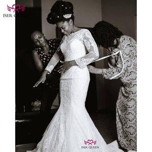 Image 3 - فساتين زفاف بيضاء نقية قابلة للانفصال فساتين زفاف ناعمة من الساتان رداء دي ماري W0607