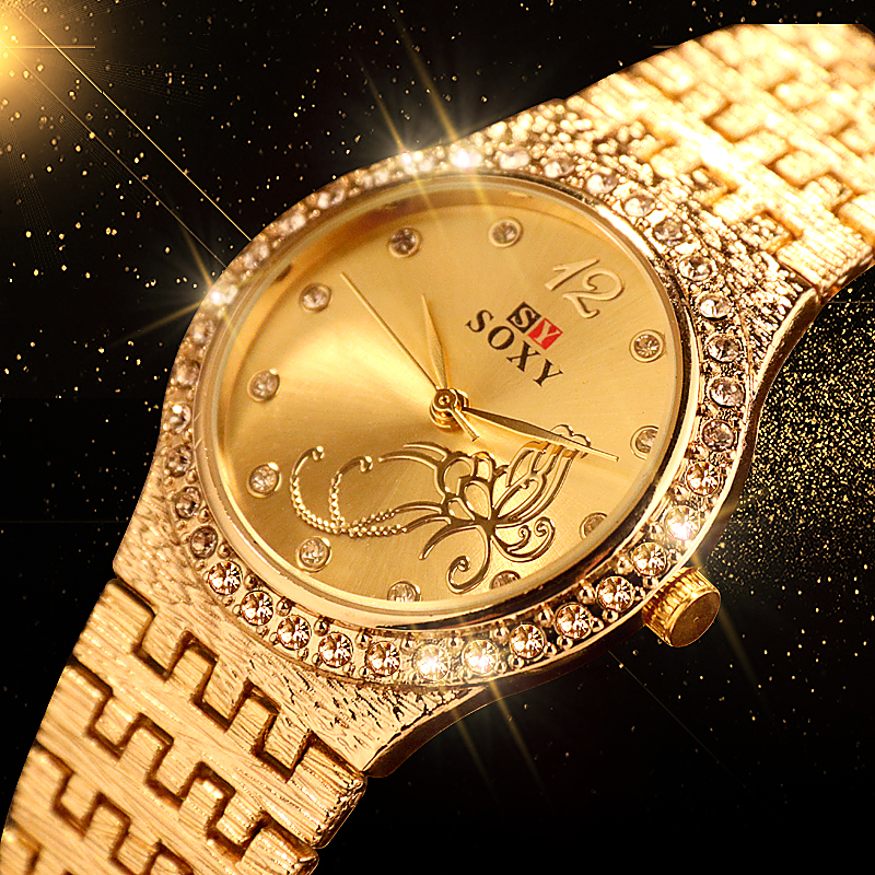 New Women Bracelet Watches Fashion  Rhinestone  Women's Watches Flower Butterfly   Exquisite  Casual Ladies Watch Female Clock