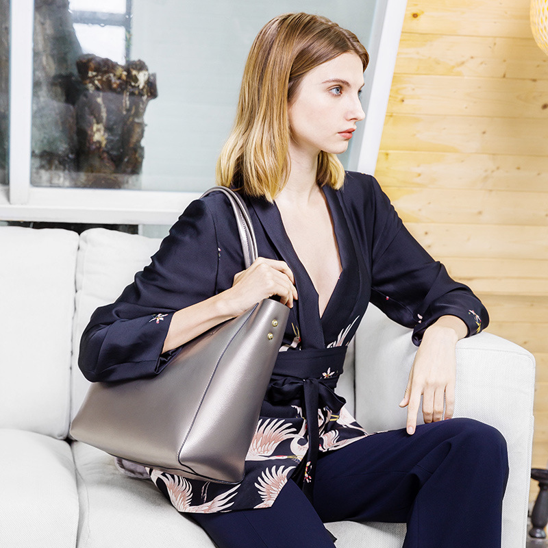 Computer Bag Women Lady Briefcase Office Bags Genuine Leather Bags Real Leather New Elegant Shoulder Bag Women High Quality 0005