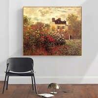 Malerei durch zahlen kunst farbe durch zahl Diy Hand bemalt Monet blume pflanze landschaft malerei hause corridor dekorative malerei