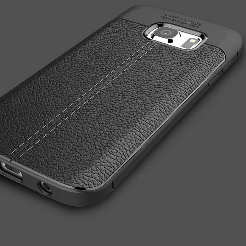 Luxus Leder Muster Rückseite, Coque, Fall für Samsung Galaxy S6 S7 Rand plus S 6 7 Silikon Silikon TPU Original Handyhüllen