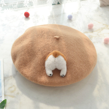 Lolita-Beret-Cap Boina Hat Wool Japanese-Style Girl Winter Women Cute Warm Mori for Corgi/cat