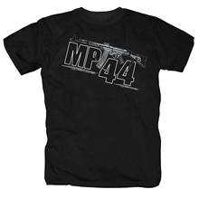 Футболка мужская с принтом, брендовая одежда для фитнеса в стиле Харадзюку, забавная армейская рубашка в стиле милитари с оружием Mp44