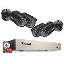 ZOSI Cctv-System Security-Camera Outdoor Home-Video Dvr-Kit 720p/1080p Weatherproof Day/night