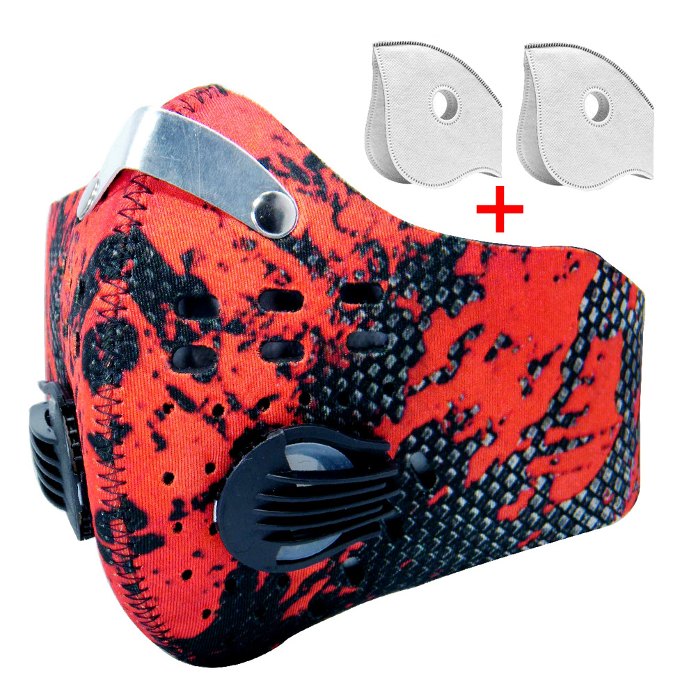 GLORSUN Air Pollution Winter Mouth Face Mask Anti Dust N99 Fashion Printed Custom Wholesale Sport Breathing Carbon Bicycle Mask