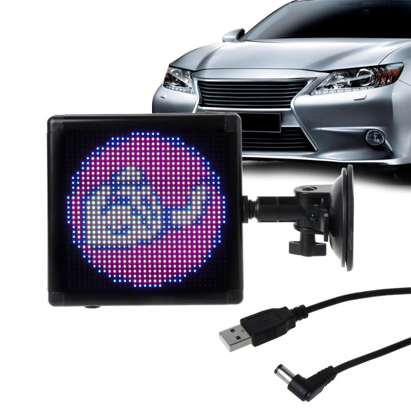 Full-color Car Led Display Screen Visibility Wireless WiFi APP Remote Control