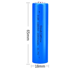True capacity 100% new original 18650 battery 3.7v 2200mah flat head rechargeable lithium battery for flashlight batteries