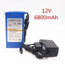 Switch Battery-Pack Lithium-Ion Rechargeable 6800mah DC12680 for 12V Super Us/eu-Plug