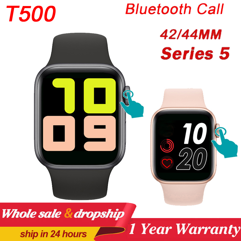 T500 Smart Watch Series 5 Bluetooth Call Music <font><b>44mm</b></font> <font><b>Smartwatch</b></font> Change Strap Heart Rate Monitor For IOS Android Phone PK X6 <font><b>IWO</b></font> <font><b>8</b></font> image