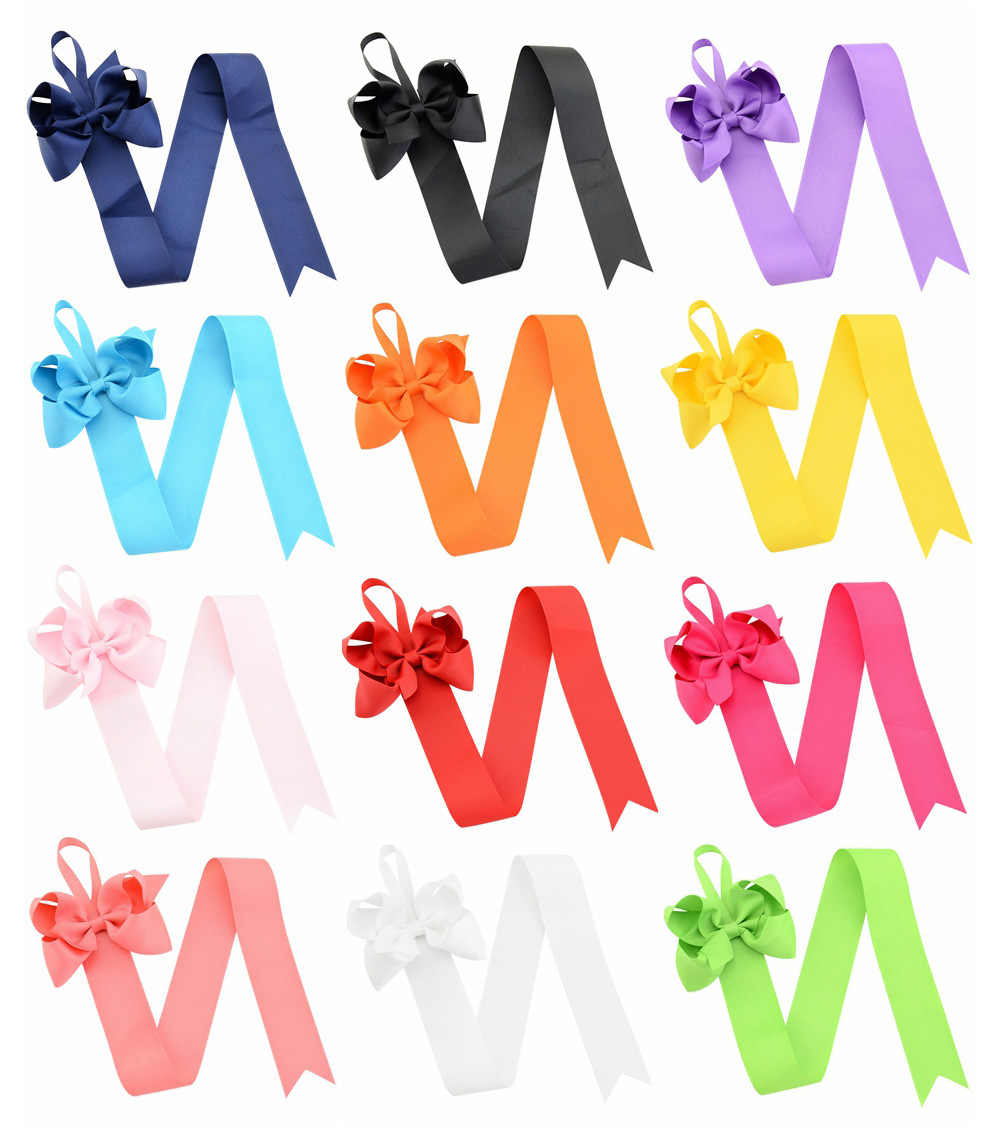 children's tiara hairpin bow display with children's bow hair clip storage ribbon 12 multi-color optional