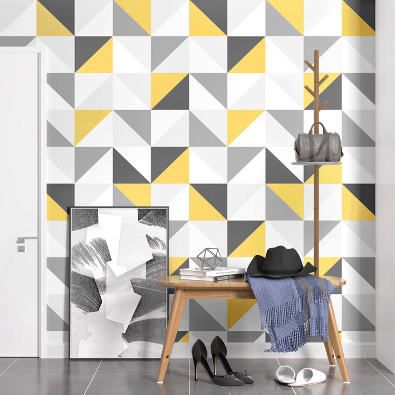Nordic Style Wallpaper Modern Simple Geometric INS Tapety Living Room Bedroom TV Background Wall Papers For Walls 3 D Home Decor