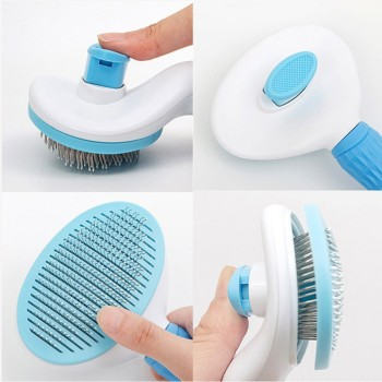 Dog Hair Removal Comb Grooming Brush Stainless Steel Cats Combs   6