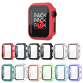 Glass+Case Full Cover For Apple Watch Case Series 6 SE 5 4 3 2 iWatch Case Accessor 44mm 40mm 42mm 38mm Protector Apple Watch
