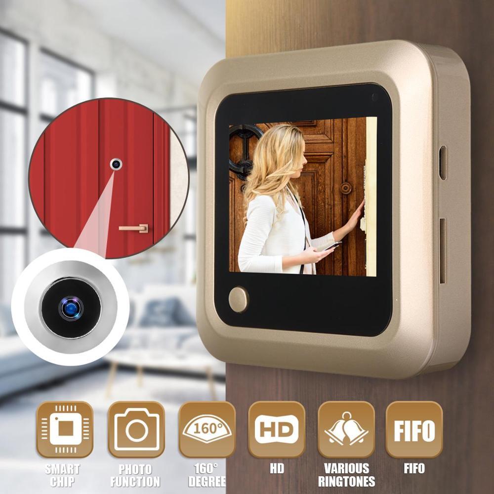 2.4Inch Visual Doorbell Smart Cat Eye Intelligent Electronic Visual Cat Eye Door Mirror With Memory Function Smart Home Security
