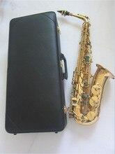 High quality yas82Z yas875 yas62 Model Professional Alto Saxophone E flat Electrophoresis Gold Musical Instruments and Hard box