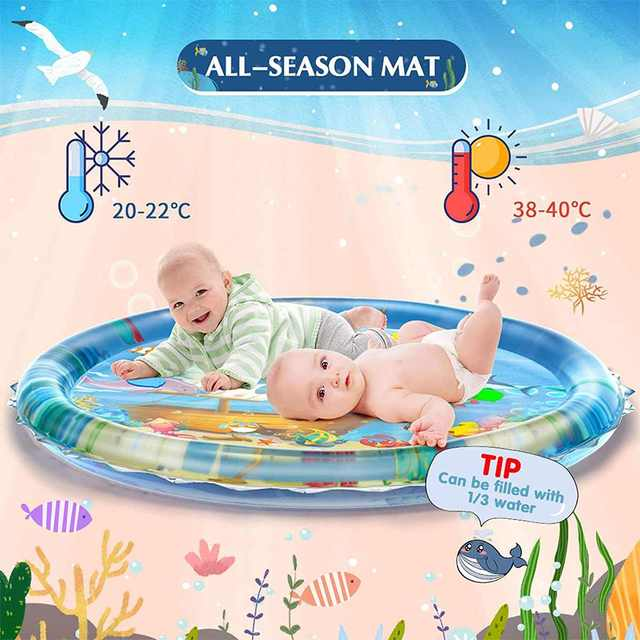100CM Baby Water Play Mat Inflatable Cushion Infant Toddler Water Play Mat for Children Early Education Baby Toy Summer Toys 1