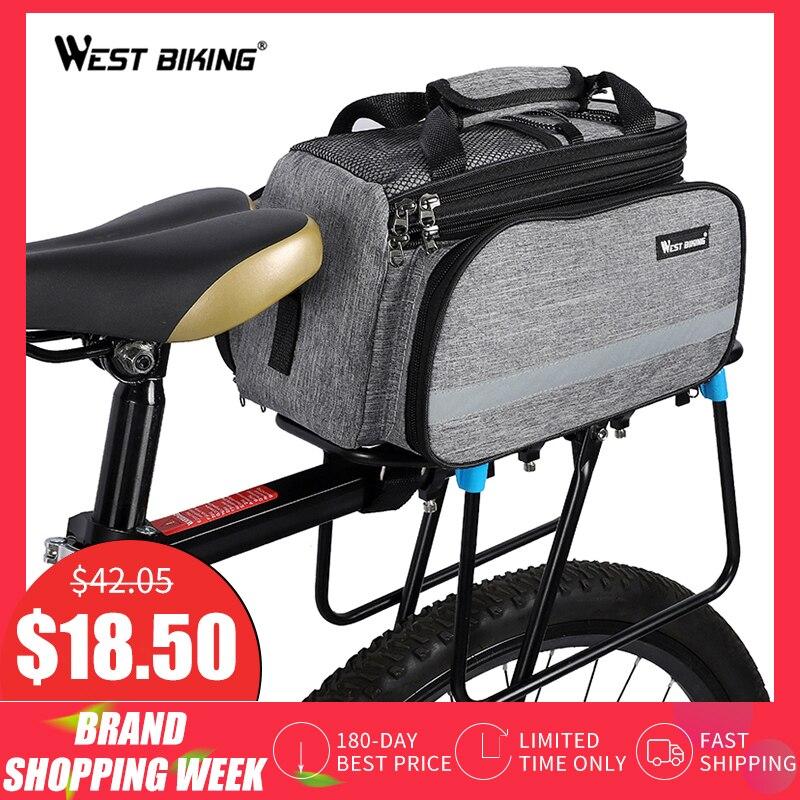 WEST sacoche vélo vélo sacoche cyclisme rangement porte bagages panier montagne route vélo selle sac à main arrière Rack malle sacs
