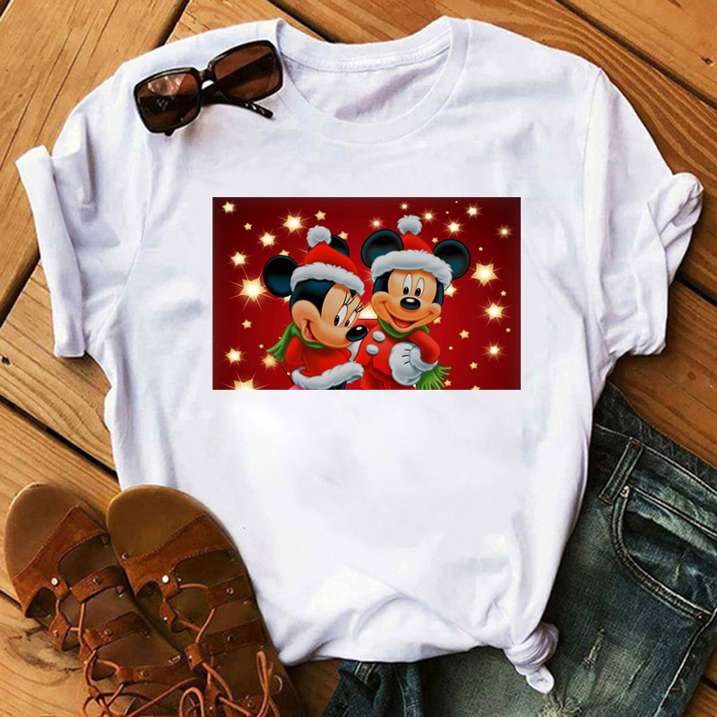 Shirts women 2020 merry Christmas T Shirt Women Fashion Graphic Cute Tee kawaii Fashion Hipster Christmas Party Style Tshirt