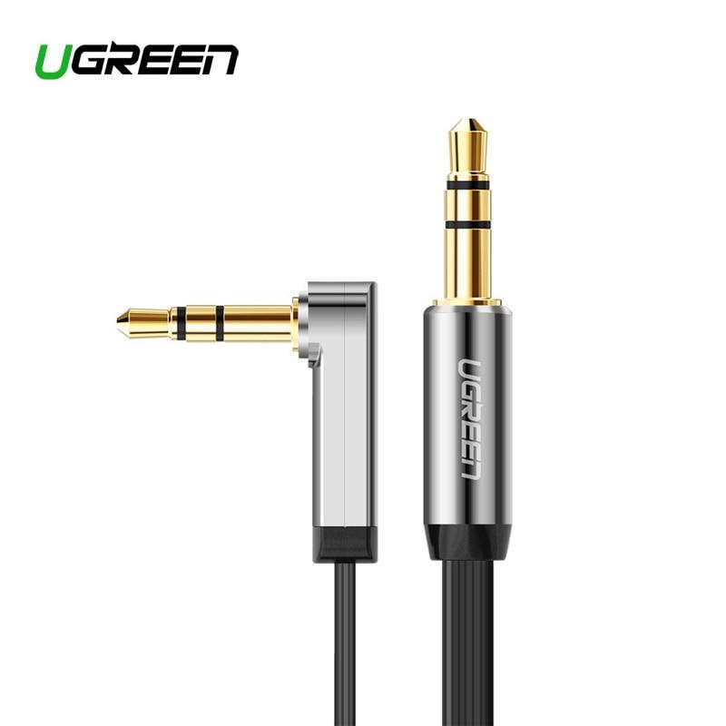 Ugreen alta qualidade jack 3.5 carro aux cabo macho para macho 3.5mm cabo de áudio 1 m 2 m 3 m 5 para iphone tablet fone de ouvido amplifer