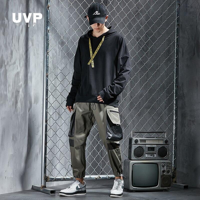 Streetwear Hoodies Male Set Joggers Sweatshirt Pants Men Trousers Hip Hop Cargo Pants Sport Wear Tracksuit Men Outfit Sweatsuit