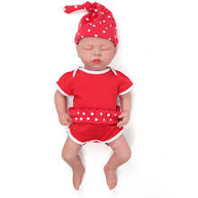 IVITA WG1507 46cm 3.2kg Girl Eyes Closed High Quality Full Body Silicone Alive Reborn Dolls Baby  juguetes boneca With Clothes