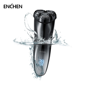 ENCHEN Blackstone3 Electric Shaver 3D Triple Blade Floating Razor Waterproof Shaving Machine USB Rechargeable Beard Trimmer philips s5082 61 rechargeable electric shaver 3d triple floating blade heads shaving razors face care beard shaving machine