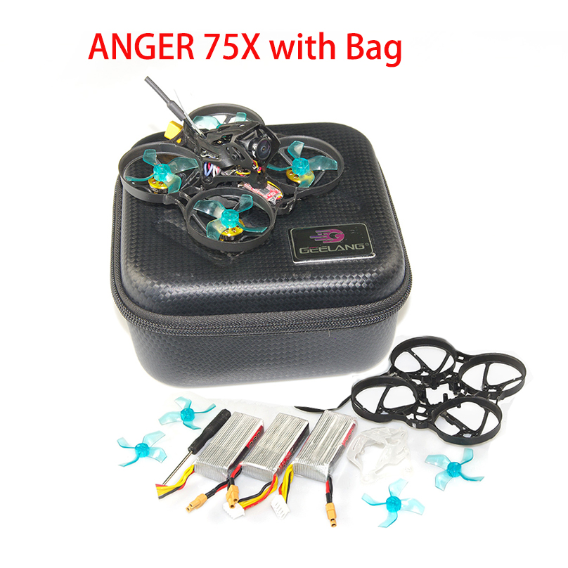 Newest GEELANG ANGER 75X V2 75mm BWhoop 3-4S FPV Racing Drone Quadcopter BNF/PNP SI-F4 Fly Tower EOS V2 1202 KV6900 Brushless