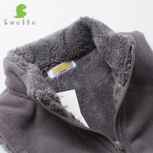 Image 5 - SVELTE/осенне зимняя меховая подкладка для мальчиков и девочек, флисовый жилет, однотонный жилет унисекс на молнии яркого цвета, детский меховой жилет