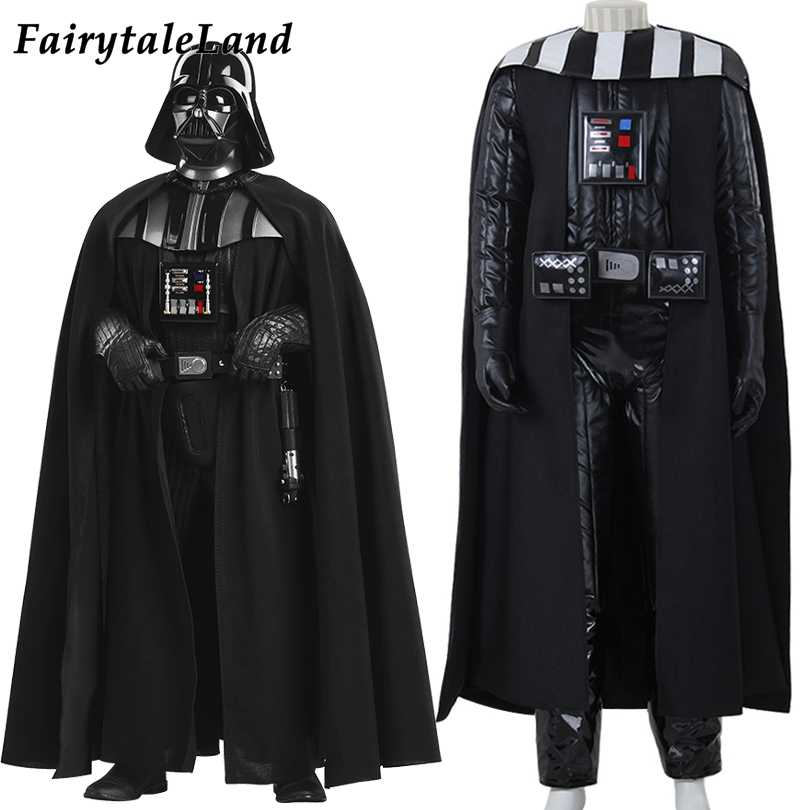 Halloween Party Cosplay Darth Vader Kostüm Star Wars Superhero Outfit Jedi Schwarz Outfit Darth Vader Kleidung Winter Anzug