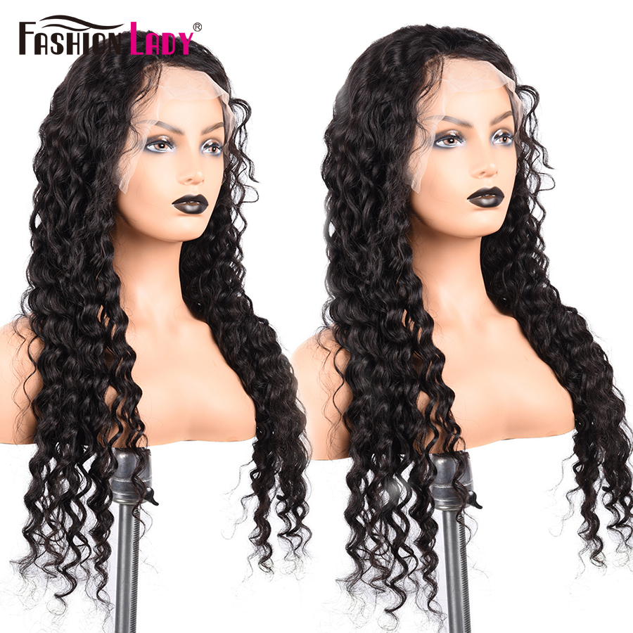 Brazilian Water Wave Wig 13*4 Lace Front Human Hair Wigs Pre Plucked Natural Hairline High Radio Remy Hair Wigs FashionLady