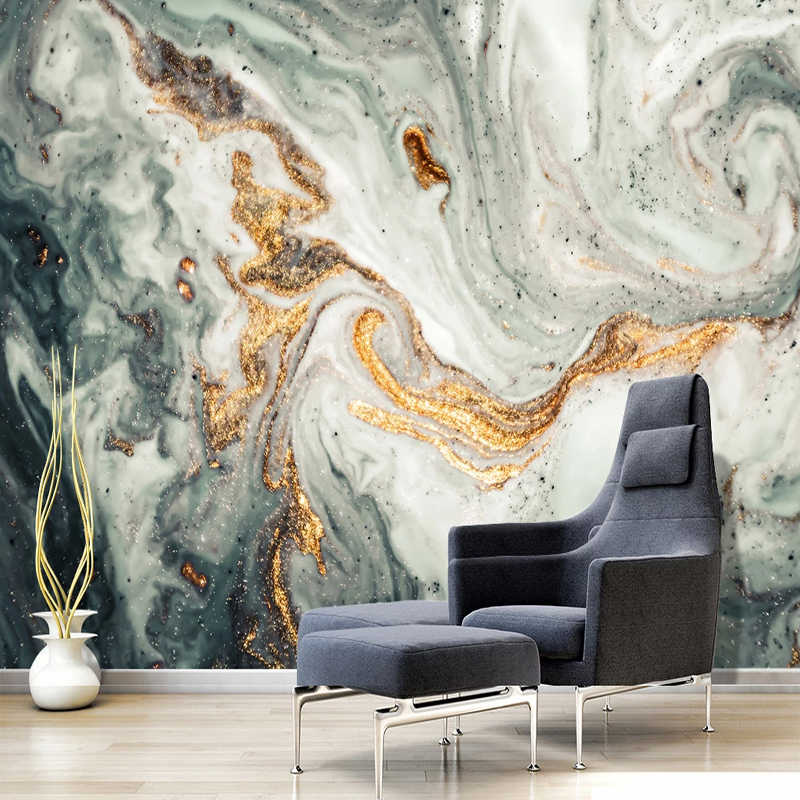 Chinese Style Abstract Wallpaper 3d Stereo Ink Golden Landscape Photo Wall Mural Living Room Tv Sofa Study Wall Paper Home Decor Wallpapers Aliexpress