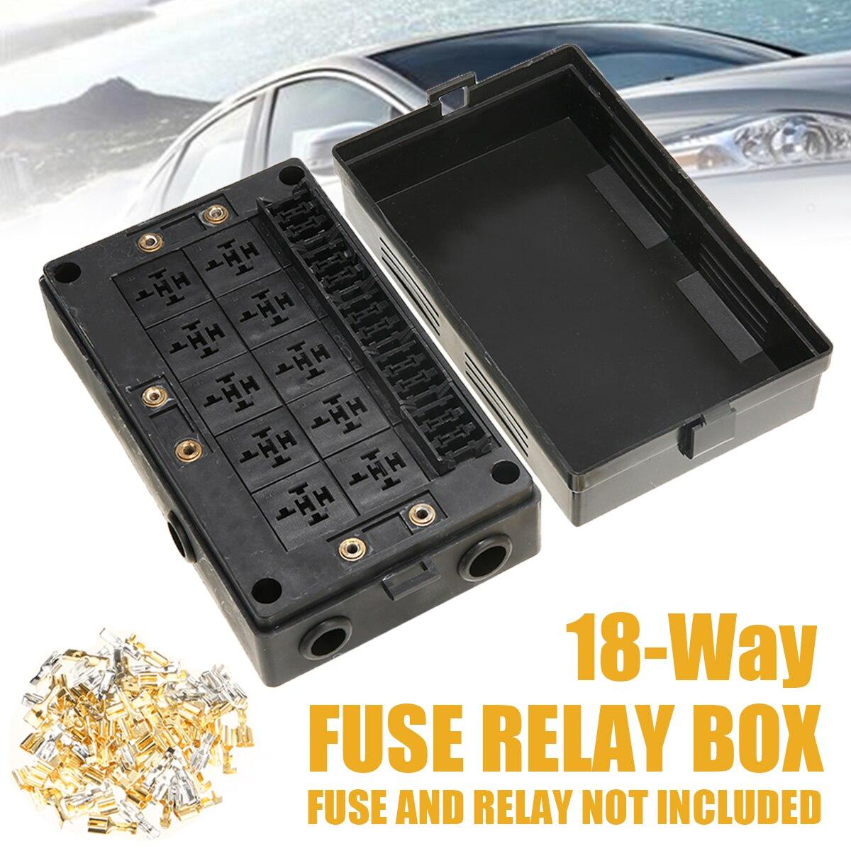 1x porte fusible pour voiture prise relais boîte noire 18 voies lame porte-fusible voiture automobile assurance pour automobile Marine RV