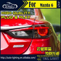 AKD Car Styling Tail Lamp for Mazda 6 Atenza Tail Lights Hybrid LED Tail Light LED Signal LED DRL Stop Rear Lamp Accessories