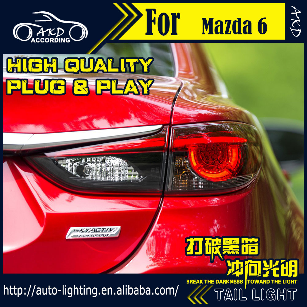 AKD Car Styling Tail Lamp for <font><b>Mazda</b></font> <font><b>6</b></font> Atenza Tail <font><b>Lights</b></font> Hybrid <font><b>LED</b></font> Tail <font><b>Light</b></font> <font><b>LED</b></font> Signal <font><b>LED</b></font> DRL Stop Rear Lamp Accessories image