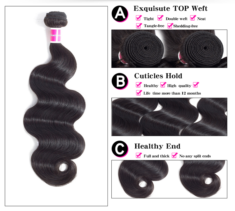 H6461b370db5d42ac9231d8a5f5cd8c11T Funky Girl 3/4 bundles with frontal Peruvian Body Wave Human Hair Lace Frontal Closure With Bundles Non Remy Frontal With Bundle