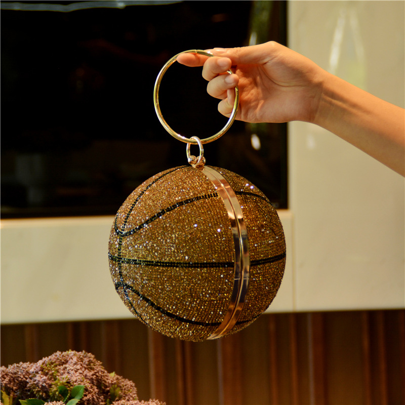 Feminino basquete noite embreagem glitter bolsa de