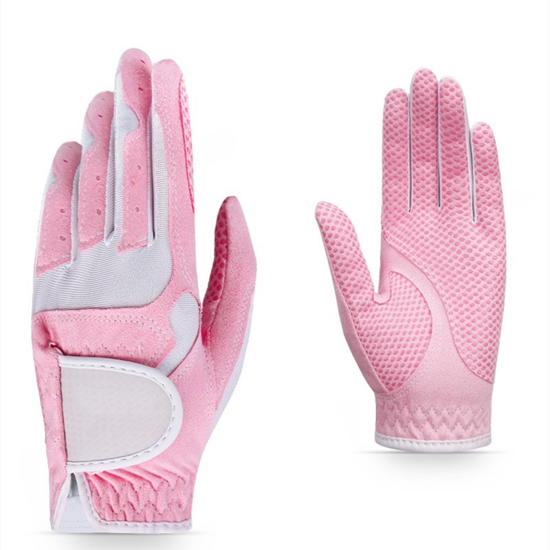 Golf Particle Non-slip Gloves Ladies Type Microfiber Absorbing Sweat Increasing Friction and Breathable Golf Gloves Elastic