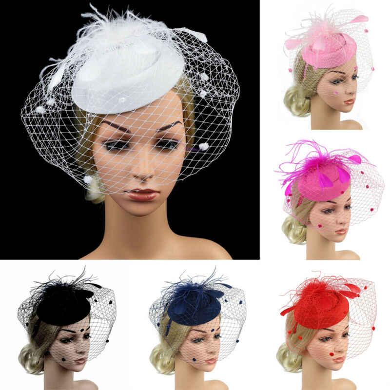 Neueste Mode Sexy Frauen Sinamay Fascinator Cocktail Party Hut Hochzeit Kirche Headwear Zubehör