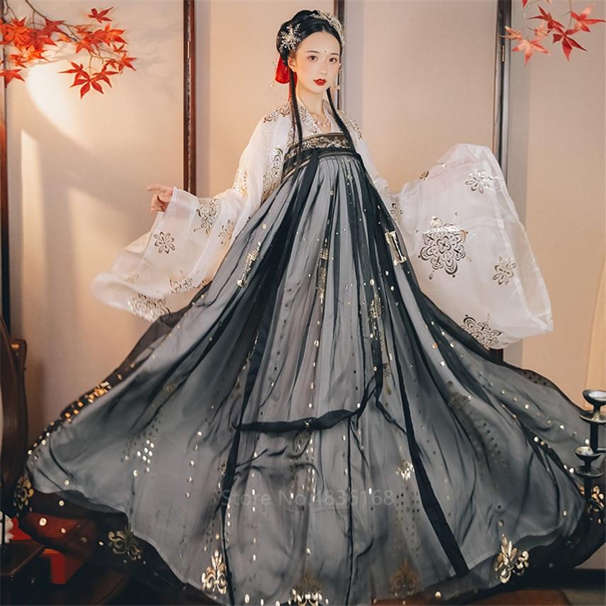 Disfraz chino antiguo de hada para mujer, Hanfu, Vintage, Tang, traje de princesa Noble, danza folclórica nacional