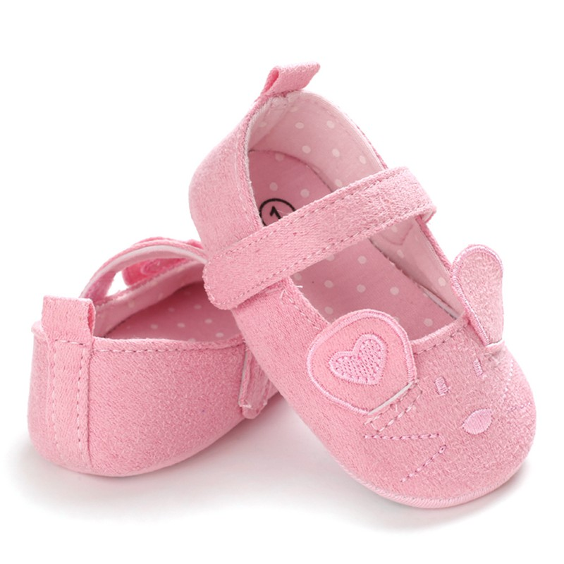 Baby Girl Pink Breathable Cartoon Mouse Ear Design Anti-Slip Casual Sneakers Toddler Soft Soled Walking Shoes
