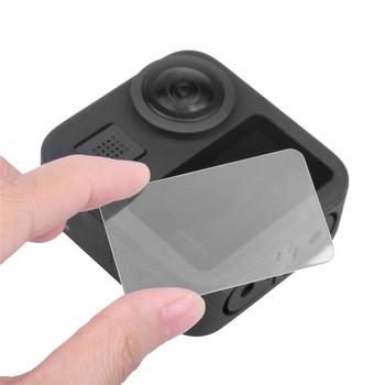 Szkło hartowane osłona obiektywu kamery zestaw do gopro Max akcesoria do kamer w ruchu tanie i dobre opinie XBERSTAR for GoPro Max Sports Camera Akcesoria Zestaw Zestaw Pakiet 1 3 1x0 7cm EGHA292 Approx 5 1x3cm Tempered film Lens Cover