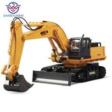 Huina 510 ワイヤレスリモコン合金ショベルシミュレーション子供充電電気おもちゃの掘削エンジニアリング車両モデル