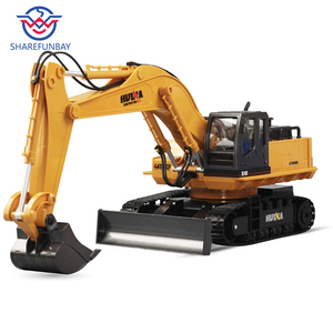 Image 1 - Huina 510 ワイヤレスリモコン合金ショベルシミュレーション子供充電電気おもちゃの掘削エンジニアリング車両モデル