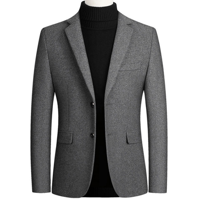 New Men Wool Blazer Business Casual Slim Fit Blazers Party/Wedding Men Dress Suits Woolen Jackets Blazers Terno Masculino